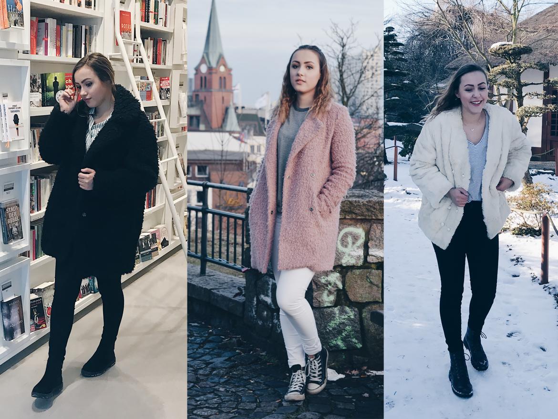 drei Varianten wie man eine Teddyjacke kombinieren kann - philuna.blog Fashion Blog aus Hamburg